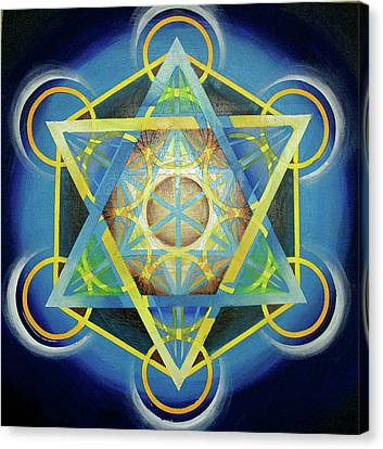 Metatron's Cube II Canvas Print by Morgan  Mandala Manley