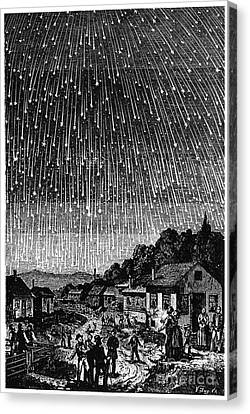 Meteor Shower, 1833 Canvas Print by Granger