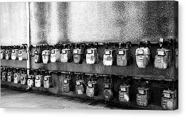 Meter Machines Canvas Print by Jera Sky