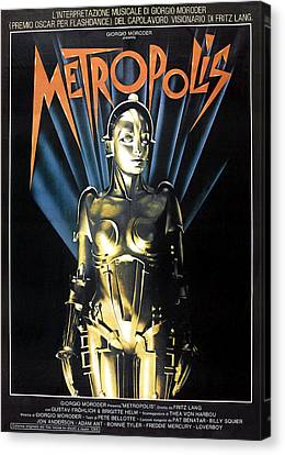 Metropolis, 1927 Poster For 1984 Canvas Print by Everett