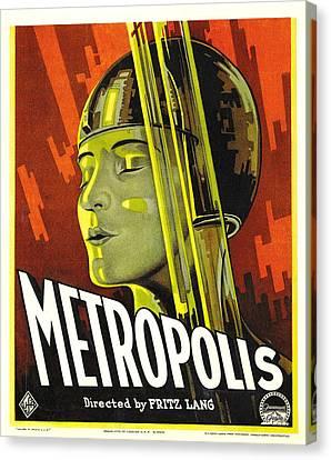 Metropolis, Brigitte Helm, 1927 Canvas Print by Everett
