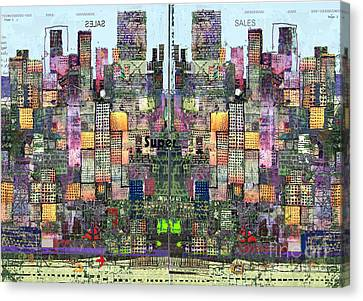 Metropolis Vi Canvas Print by Andy  Mercer