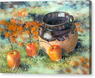 Mexican Apples Canvas Print by DEVARAJ DanielFranco
