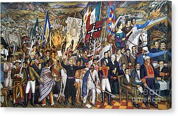 Mexico: 1810 Revolution Canvas Print by Granger