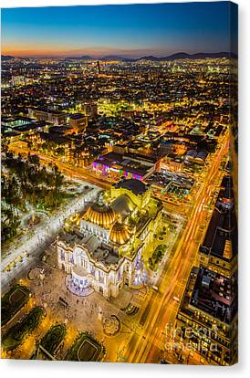 Mexico City Twilight Canvas Print by Inge Johnsson
