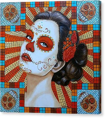 Mi Amor Por Ti Brilla Tan Brillante Como El Sol Canvas Print by Al  Molina