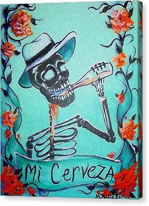 Mi Cerveza Canvas Print by Heather Calderon