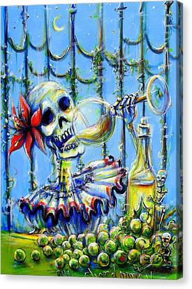 Mi Chardonnay Canvas Print by Heather Calderon