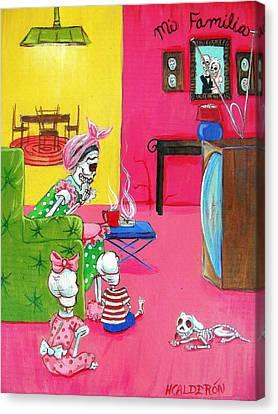 Mi Familia Canvas Print by Heather Calderon