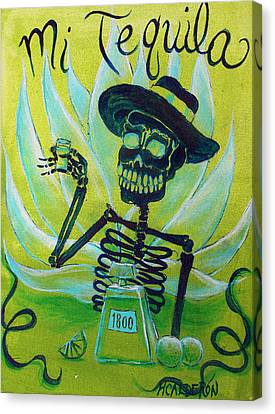 Mi Tequila Canvas Print by Heather Calderon