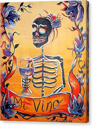 Mi Vino Canvas Print by Heather Calderon