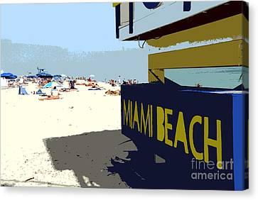Miami Beach Work Number 1 Canvas Print by David Lee Thompson