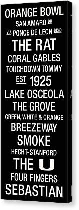 Miami College Town Wall Art Canvas Print by Replay Photos