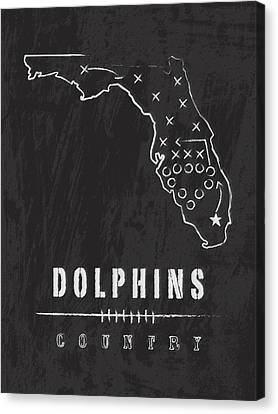 Miami Dolphins Country Canvas Print by Damon Gray