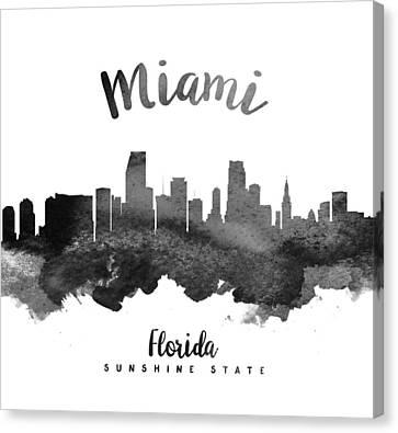 Miami Florida Skyline 18 Canvas Print by Aged Pixel