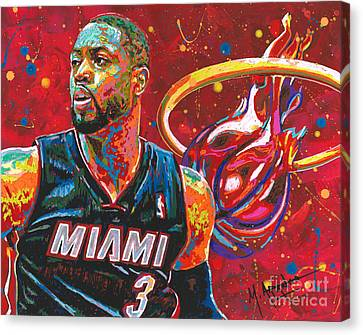 Miami Heat Legend Canvas Print by Maria Arango