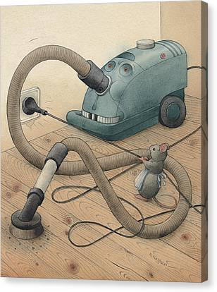 Mice And Monster Canvas Print by Kestutis Kasparavicius