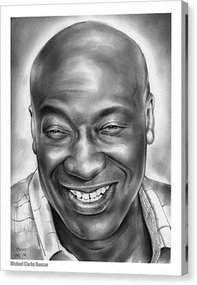 Michael Clarke Duncan Canvas Print by Greg Joens
