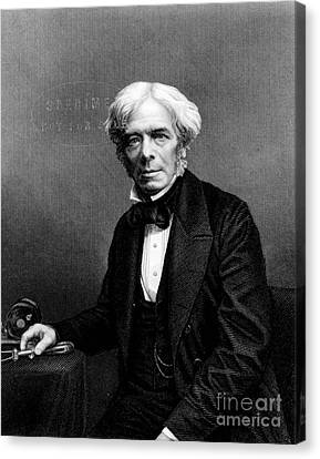 Michael Faraday, English Physicist Canvas Print by Photo Researchers