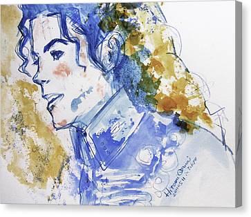 Michael Jackson - Bless You Canvas Print by Hitomi Osanai