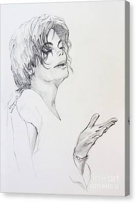 Michael Jackson - In 2001 Ny Canvas Print by Hitomi Osanai