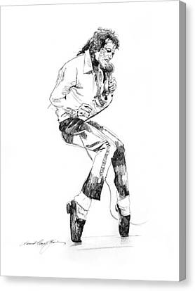 Michael Jackson - King Of Pop Canvas Print by David Lloyd Glover
