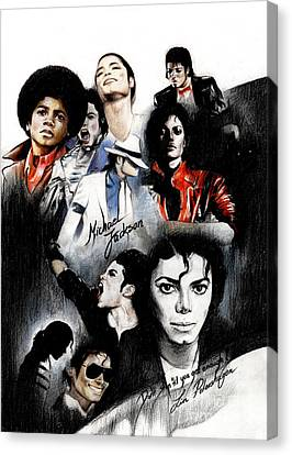 Michael Jackson - King Of Pop Canvas Print by Lin Petershagen