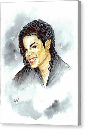 Michael Jackson - Smile Canvas Print by Nicole Wang