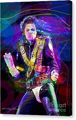 Michael Jackson '93 Moves Canvas Print by David Lloyd Glover