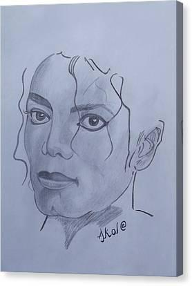 Michael Jackson Canvas Print by Akol Jayjay