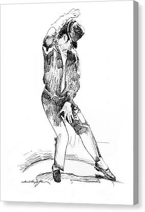 Michael Jackson Dancer Canvas Print by David Lloyd Glover