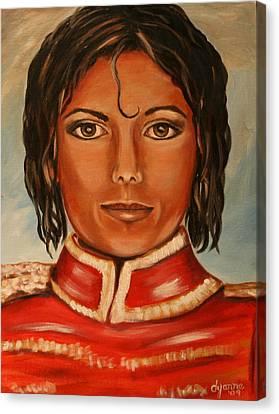 Michael Jackson Canvas Print by Dyanne Parker