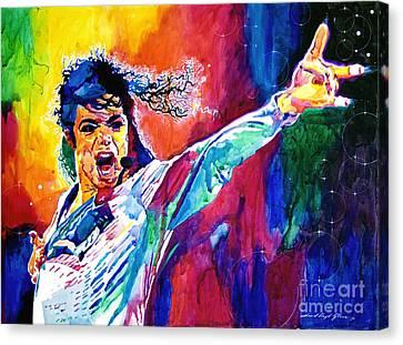 Michael Jackson Force Canvas Print by David Lloyd Glover