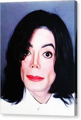 Michael Jackson Mugshot Canvas Print by Bill Cannon