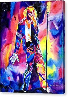 Michael Jackson Sparkle Canvas Print by David Lloyd Glover