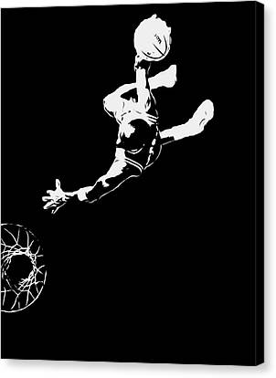 Michael Jordan Above The Rim 1 Canvas Print by Brian Reaves