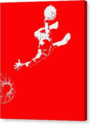 Michael Jordan Above The Rim 2 Canvas Print by Brian Reaves