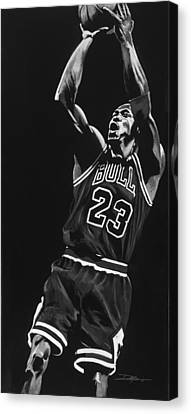 Michael Jordan Canvas Print by Don Medina