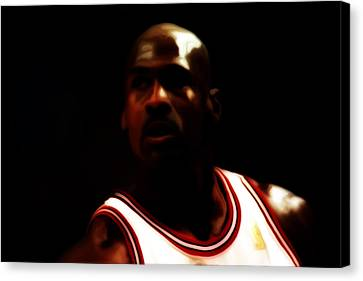 Michael Jordan Game Time Canvas Print by Brian Reaves