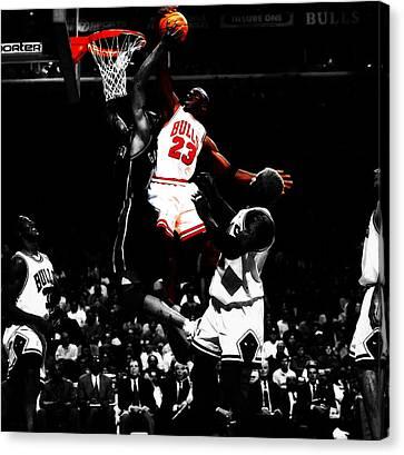 Michael Jordan Gimme Dat Canvas Print by Brian Reaves