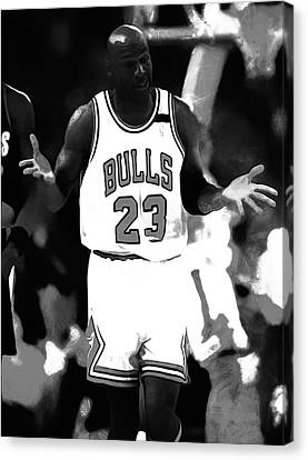 Michael Jordan It Must Be The Shoes Canvas Print by Brian Reaves