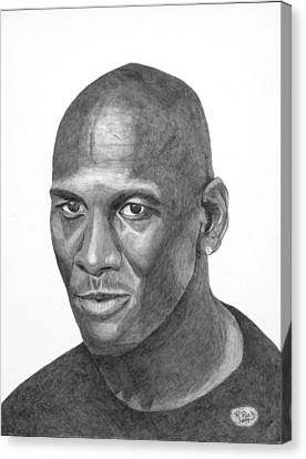 Michael Jordan Canvas Print by Randy Reed