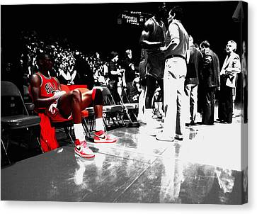 Michael Jordan Ready To Go II Canvas Print by Brian Reaves