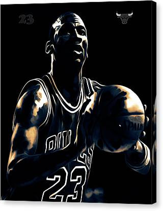 Michael Jordan Stay Focused Canvas Print by Brian Reaves