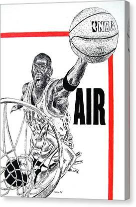 Michael Jordan Canvas Print by Vincent Wolff
