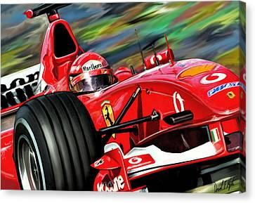 Michael Schumacher Ferrari Canvas Print by David Kyte
