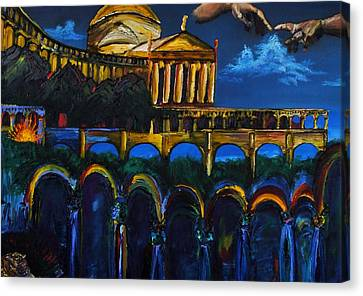 Michaelangelo Arches Vatican Canvas Print by Gregory Allen Page