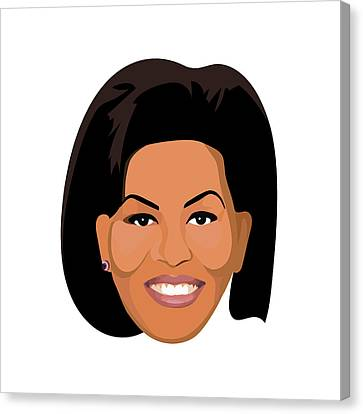 Michelle Obama  Canvas Print by Lauren Amelia Hughes