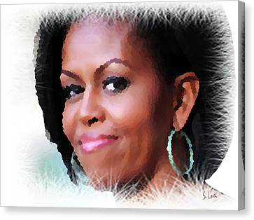 Michelle Obama Canvas Print by S Art