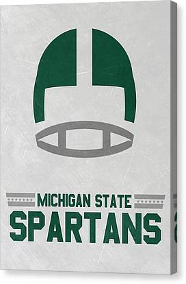 Michigan State Spartans Vintage Art Canvas Print by Joe Hamilton